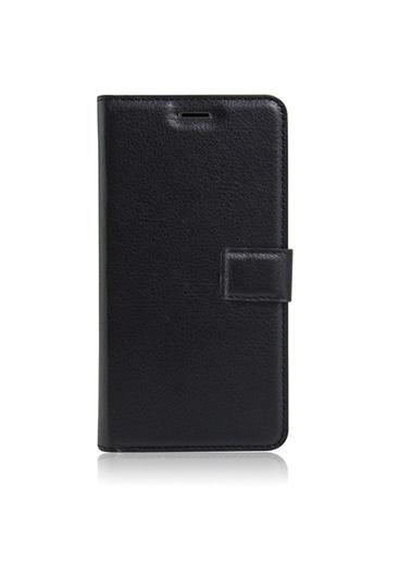 Microsonic Cüzdanlı Deri Samsung Galaxy J7 Max Kılıf Siyah Siyah